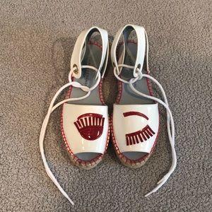 Chiara Ferragni ankle strap espadrille